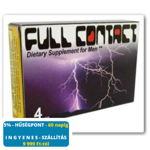 FULL CONTACT potencianövelő - 4 db kapszula